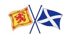 scottish saltire and lion flag